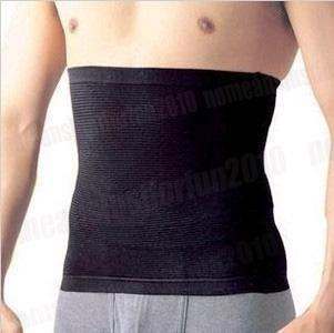 Mens Slimming Belt Slimming Shapewear Waist Cincher Large Black