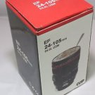 Camera Lens Cup Coffee Tea Mug Stainless Steel Thermos & Lens Lid US