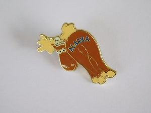 Collectible Vintage Alaska State Moose Lapel Pin