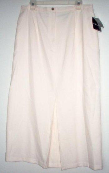 BRAND NEW SAG HARBOR cream long skirt size 16 NWT