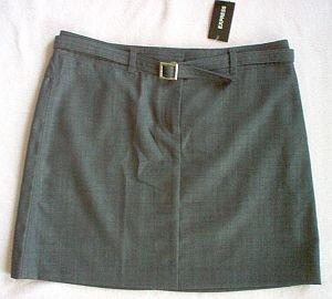 NEW 3/4 trendy sexy EXPRESS stretch skirt NWT mini with belt