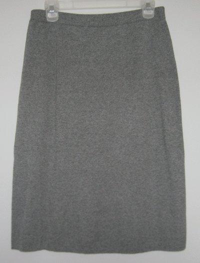 LIZ CLAIBORNE gray skirt size Large CAREER LIKE NEW