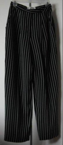 LIKE NEW Anne Klein petites size 6 pinstripe dress pants slacks black LN