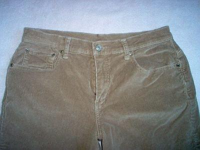FASHION BUG size 10 corduroy tan pants stretch EUC excellent condition cords