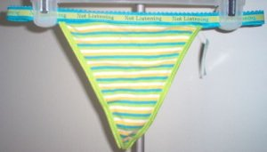 brand new ST. EVE thong panties size L/7 Not Listening NWT