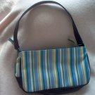 brand new ELLE GIRL handbag purse blue striped NWOT cute