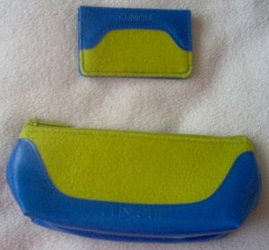 brand new Clinique makeup bag or wallet clutch purse NWOT