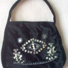 NWOT black sequin OOAK unique handbag purse soft brand new