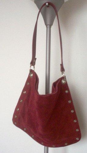 Old Navy red suede handbag purse in excellent condition