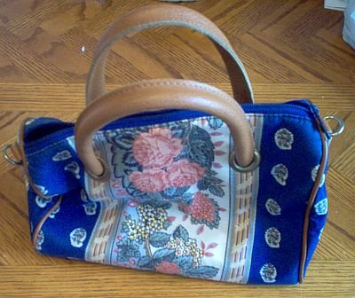 Richmark vintage look flower leather handle bag handbag in good condition