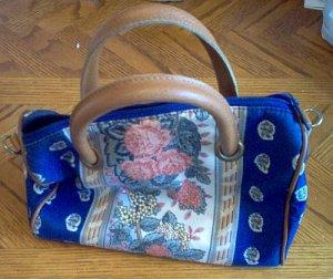 Richmark vintage look flower leather handle bag handbag in good condition