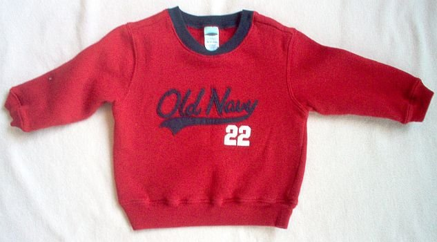 OLD NAVY baby 18-24 months mos sweatshirt boy girl red soft and warm
