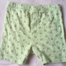 GYMBOREE gymmies buzz bee green shorts size 12-18 months CUTE