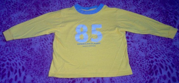 Tommy Hilfiger long sleeved L/S tee sz 2T stylish yellow t-shirt in excellent condition
