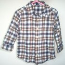 OSHKOSH flannel l/s shirt size 3T LIKE NEW fall earth colors plaid