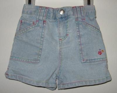 brand new girls Wonder Kids jean shorts size 12 months light wash