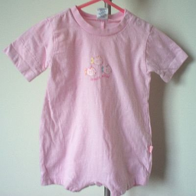 Children's Place Beauty School pink romper 3-6 mos months TCP in excellent condition