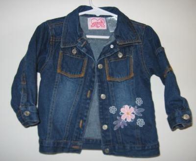 cute 18 month denim jacket regular wash flower stitch in like new condition