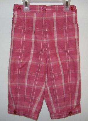 brand new George pink plaid knickers capri size 5T NWT