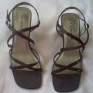 Unlisted black shimmery strappy sandals size 7 in excellent condition