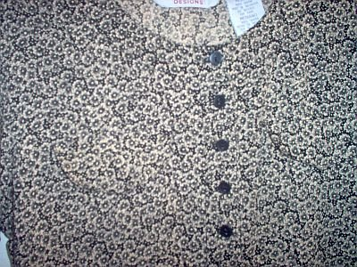 Oh Mamma maternity gold and black floral career shirt size medium in excellent condition