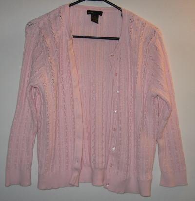 Grace Elements size medium XL pink cardigan sweater LIKE NEW