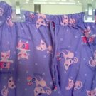 EUC Total Girl size xs 4 5 purple kitty print pajama pants excellent condition