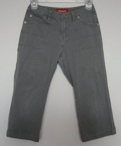 UNION BAY girls cropped capri pants olive green size 10