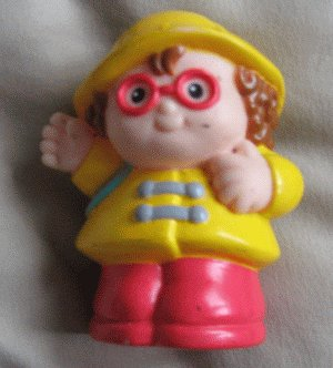 1997 Fisher Price Little People raincoat MAGGIE school