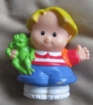 2001 Fisher Price Little People EDDIE school frog bag