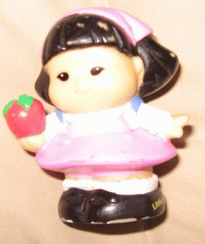 2001 Fisher Price Little People SONYA LEE school with apple