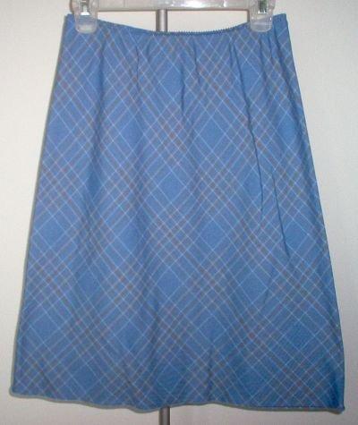 brand new LIZ CLAIBORNE size 6 blue knee length skirt NWOT