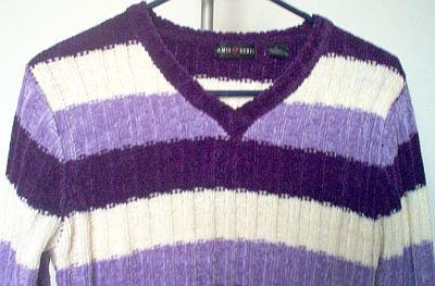 Jamie Scott purple striped sweater size M acrylic excellent condition