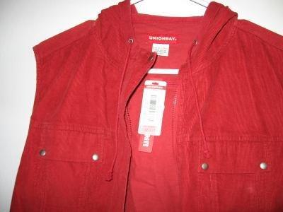 brand new Union Bay sleeveless cord style hoodie XL NWT