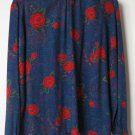 Country Sophisticates size 10 blue paisley outfit pleat skirt shirt set