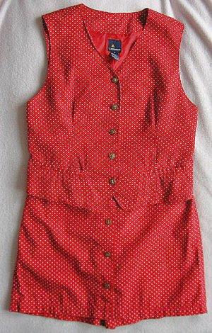 Red Star Lizsport Liz Claiborne culotte vest set size 8