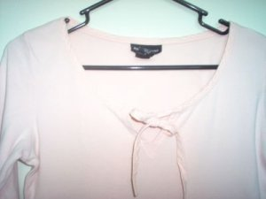 Express Jeans pink shirt size small elastic sleeve excellent condition
