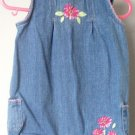 Cherokee 6 months denim flower romper jean onepiece excellent condition