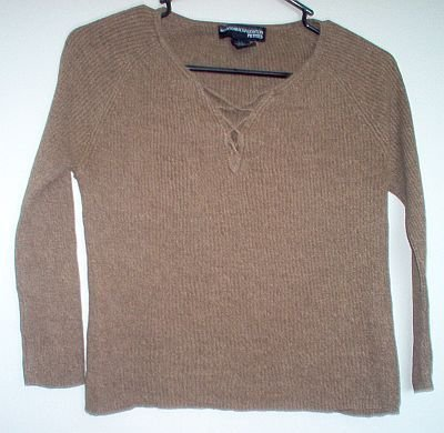 Norton McNaughton Petites size small S brown silk sweater excellent condition
