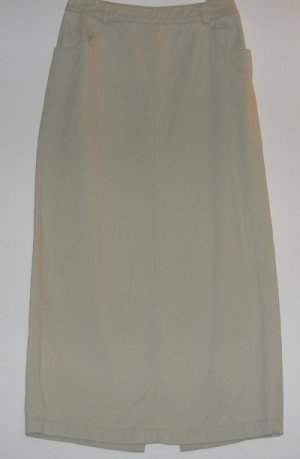 OLD NAVY khaki long straight skirt size 4 excellent condition