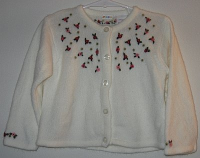 NUTCRACKER Gymbo Gymboree white cardigan 2000 sz 24 mos good condition