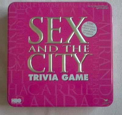 Sex and the City trivia game pink collector tin like new