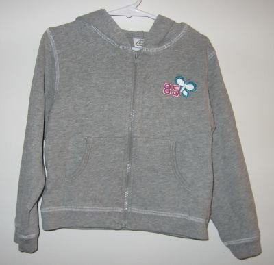 gorgeous brand new Green Dog grey gray glitter butterfly hoodie size 4/5 NWT