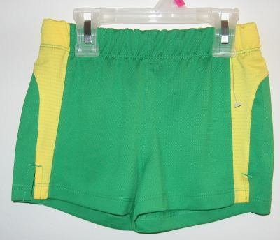 Girl Connection Green and Yellow Jersey Shorts sz XS 4/5