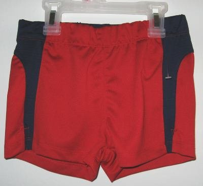Girl Connection Red and Blue Jersey Shorts sz XS 4/5