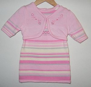Organic Preemie Sweater Dress w/ Shrug