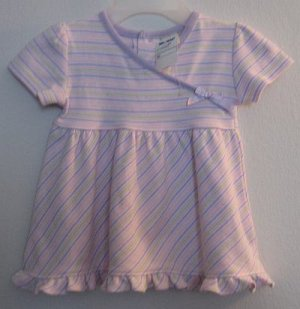 Brand new pastel George Organic Dress 0-3 months NWT