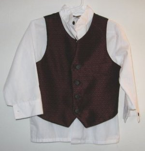 Boys Formal Cadet Club Classics Top and Vest sz 4