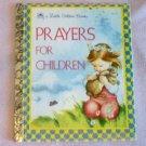 Prayers for Children Little Golden Book 1974 1952 good condition