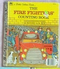 Little Golden Book Vintage Fire Fighters Counting 1983 good condition